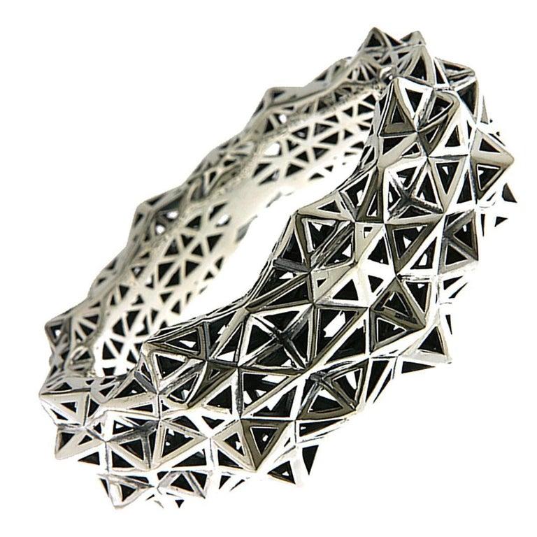 Stellated Silver Bracelet