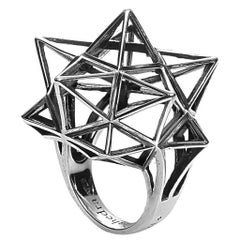 Sterling Silver Framework Star Ring