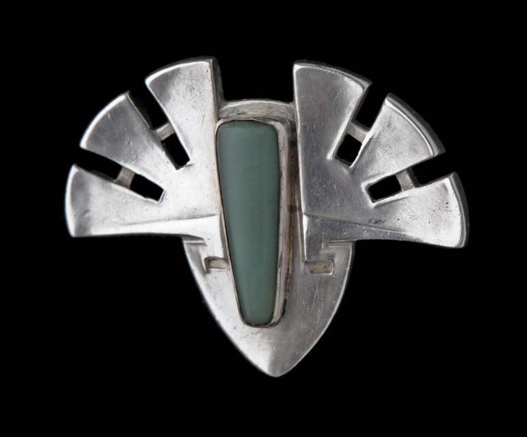 Women's or Men's Patriz Huber Theodor Fahrner Jugendstil Brooch For Sale