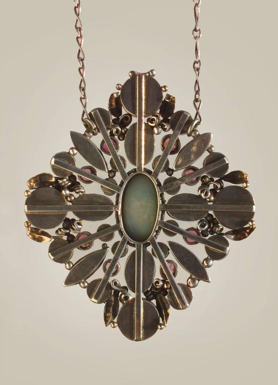 Women's Attributed to Dorrie Nossiter Arts and Crafts Pendant For Sale