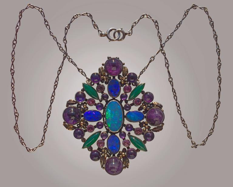 Attributed to Dorrie Nossiter Arts and Crafts Pendant For Sale 2