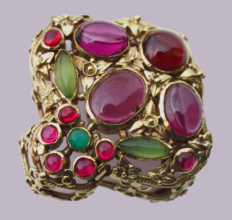 A superb documented Arts & Crafts brooch by John Paul Cooper who was one of the leading artist craftsmen who shared the medieval vision of William Burges. He was a luminary of the British Arts and Crafts movement.