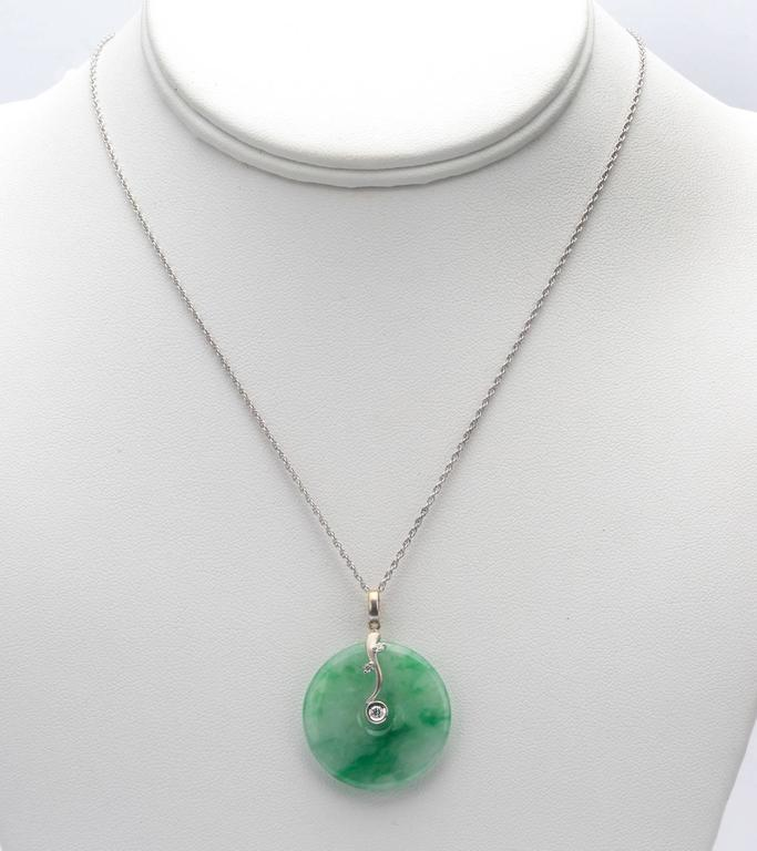 fashion high green grade jade in natural pendants jewelry pendant item buddha inlaid laughing from chalcedony women special necklace silver