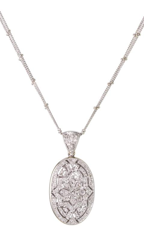 Diamond Pendant Necklace In Excellent Condition For Sale In Summerland, CA