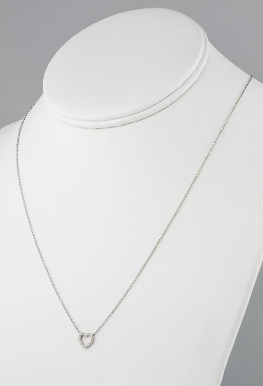Tiffany & Co. Diamond Gold Necklace In Excellent Condition For Sale In Summerland, CA