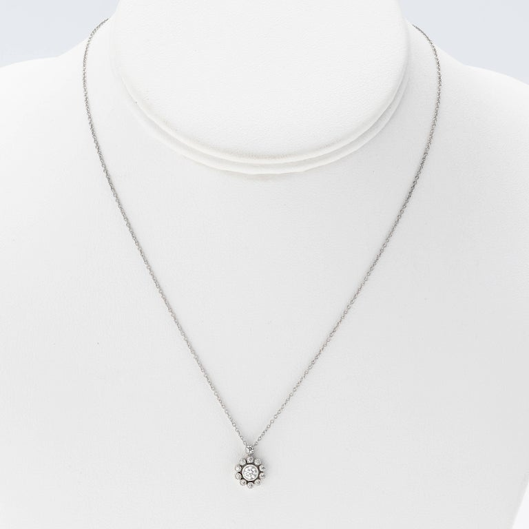 Tiffany & Co. Platinum Diamond Necklace In Excellent Condition For Sale In Summerland, CA