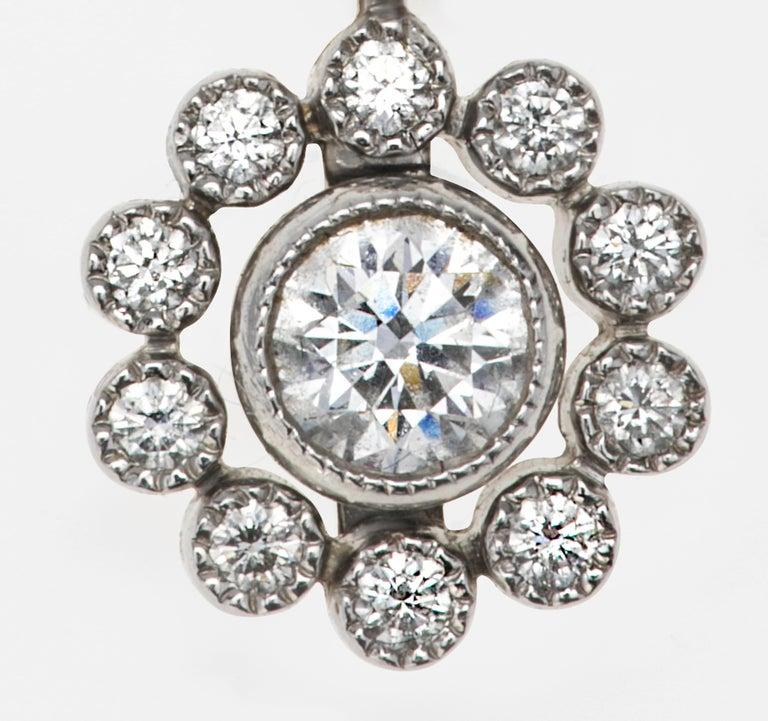 Tiffany & Co. Platinum Diamond Necklace For Sale 1