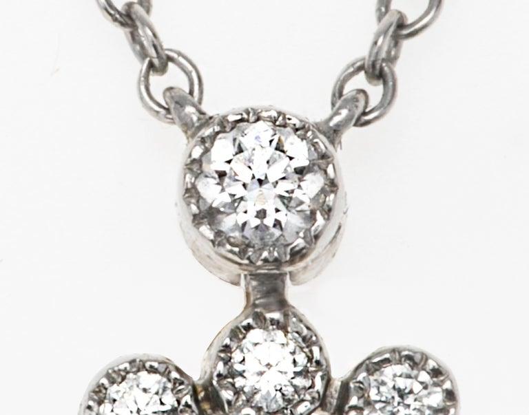 Women's Tiffany & Co. Platinum Diamond Necklace For Sale