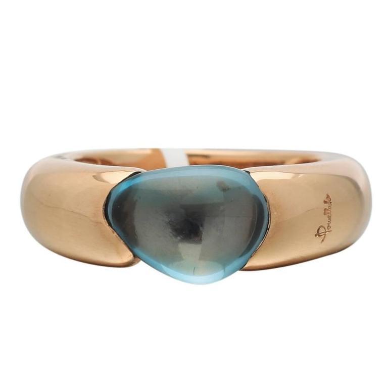 Pomellato Sassi Blue Topaz Gold Ring