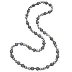 Tiffany & Co. Hematite Bead Silver Necklace
