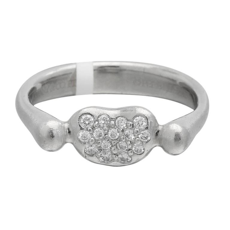 Tiffany & Co. Elsa Peretti Diamond Platinum Heart Ring