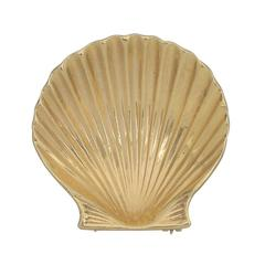 Cartier Gold Scallop Shell Pin