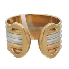 "Cartier Tricolor Gold ""C"" Ring"