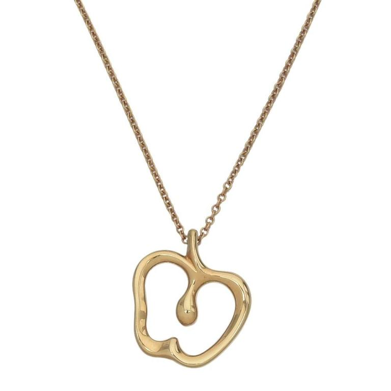 and co elsa peretti gold apple pendant necklace
