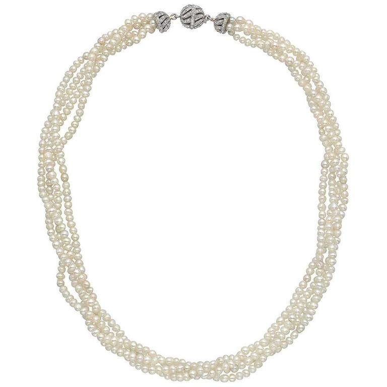 antique 4 strand seed pearl necklace at 1stdibs