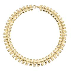 Tiffany & Co. Gold V Link Collar Necklace