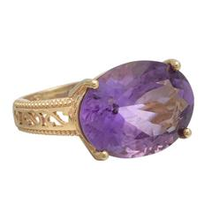 Oval Amethyst Gold Ring