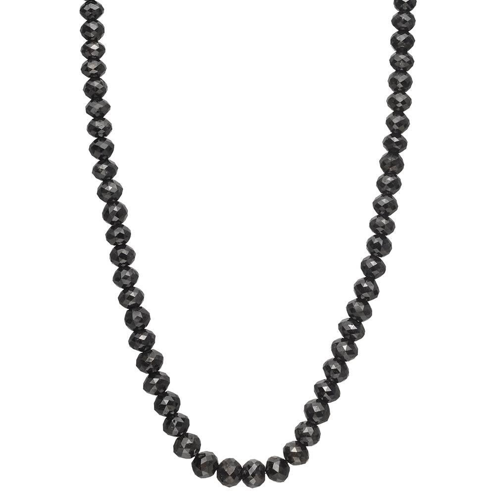 3.39 Carat Rough and 62.27 Carat Black Facetted Diamonds Collier ...