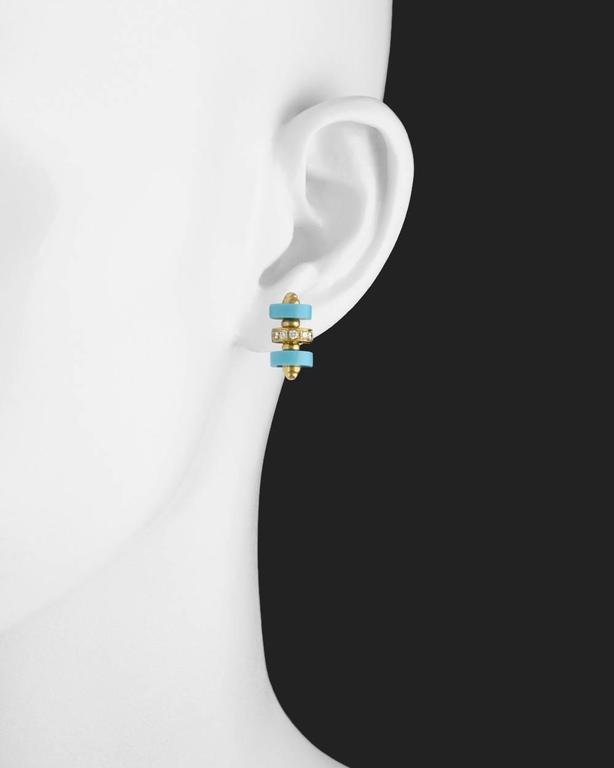 Garrard Turquoise Diamond Stud Earrings 2
