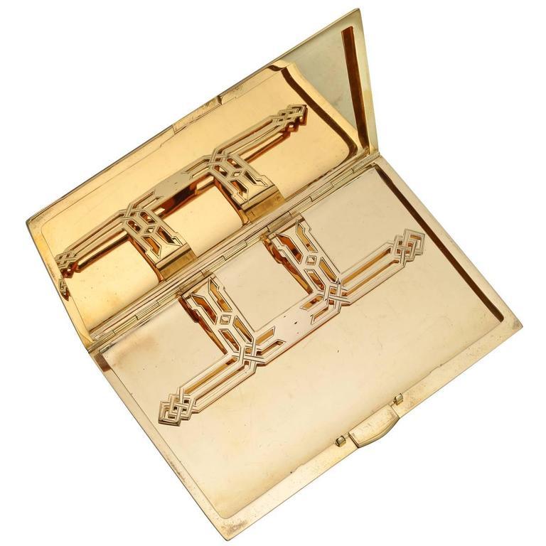 Charlton Art Deco Yellow Gold Cigarette Case 2