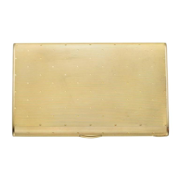 Charlton Art Deco Yellow Gold Cigarette Case For Sale