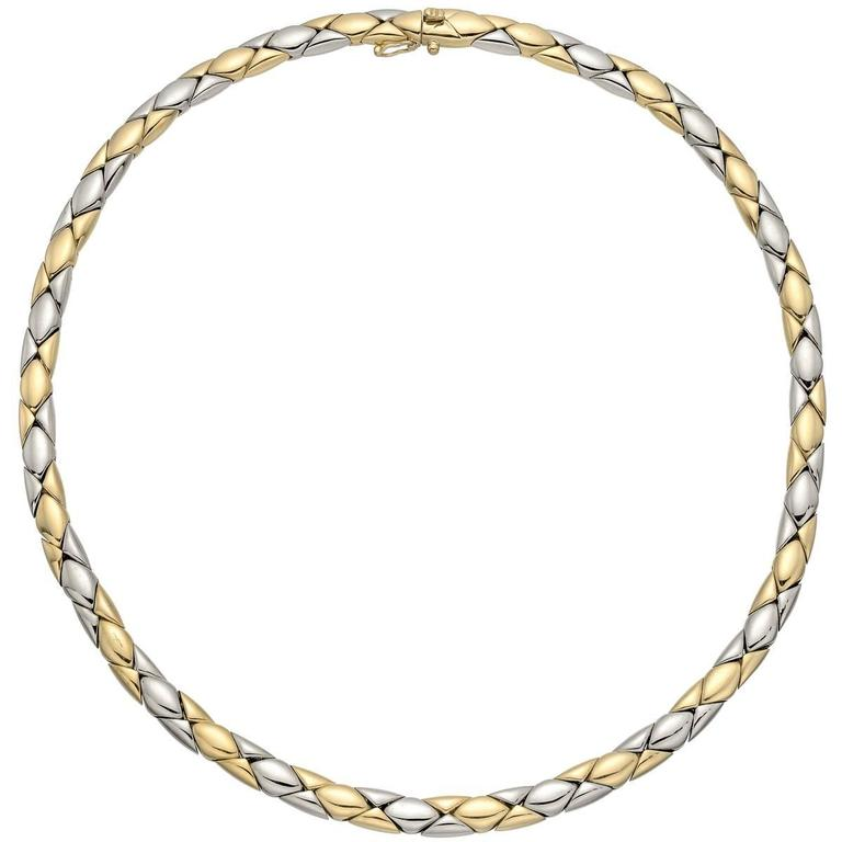 Cartier Yellow and White Gold Collar Necklace