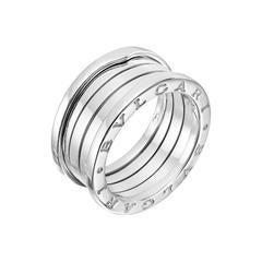 Bulgari B. Zero Three-Band White Gold Ring