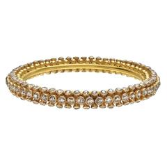 Brown Diamond Gold Sputnik Bangle Bracelet