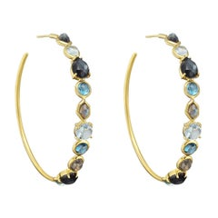 Ippolita Gold Gem-Set Rock Candy Hoop Earrings