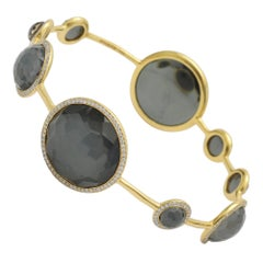 Ippolita Hematite Diamond Lollipop Bangle