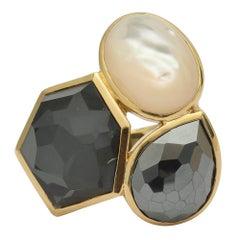 Ippolita Hematite Pearl Onyx Rock Candy Ring