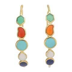 Ippolita Gem-Set Rock Candy Hoop Earrings