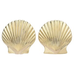 Tiffany & Co. Yellow Gold Seashell Earrings