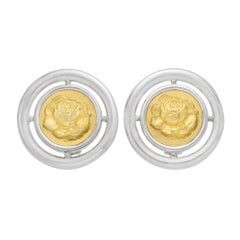 Lalaounis Silver Yellow Gold Earclips