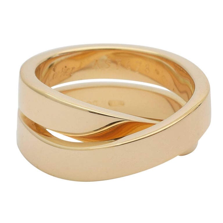 Cartier Yellow Gold Criss-Cross Band Ring