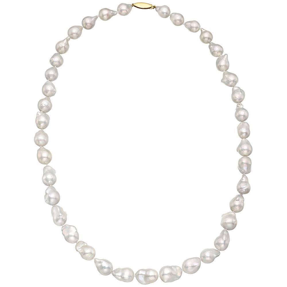 cultured baroque pearl necklace at 1stdibs