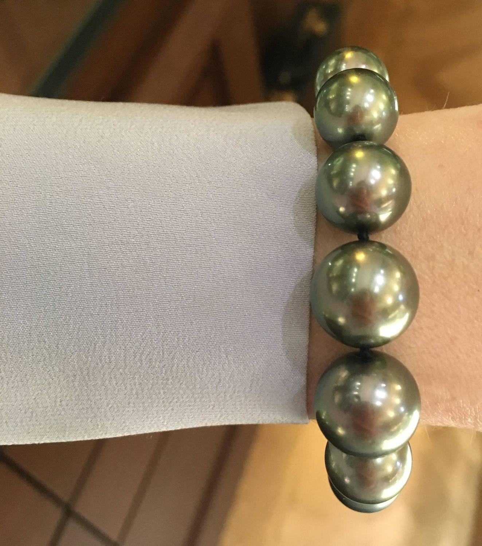 Mikimoto Tahitian Pearl Necklace: Mikimoto Tahitian Pearl Bracelet At 1stdibs