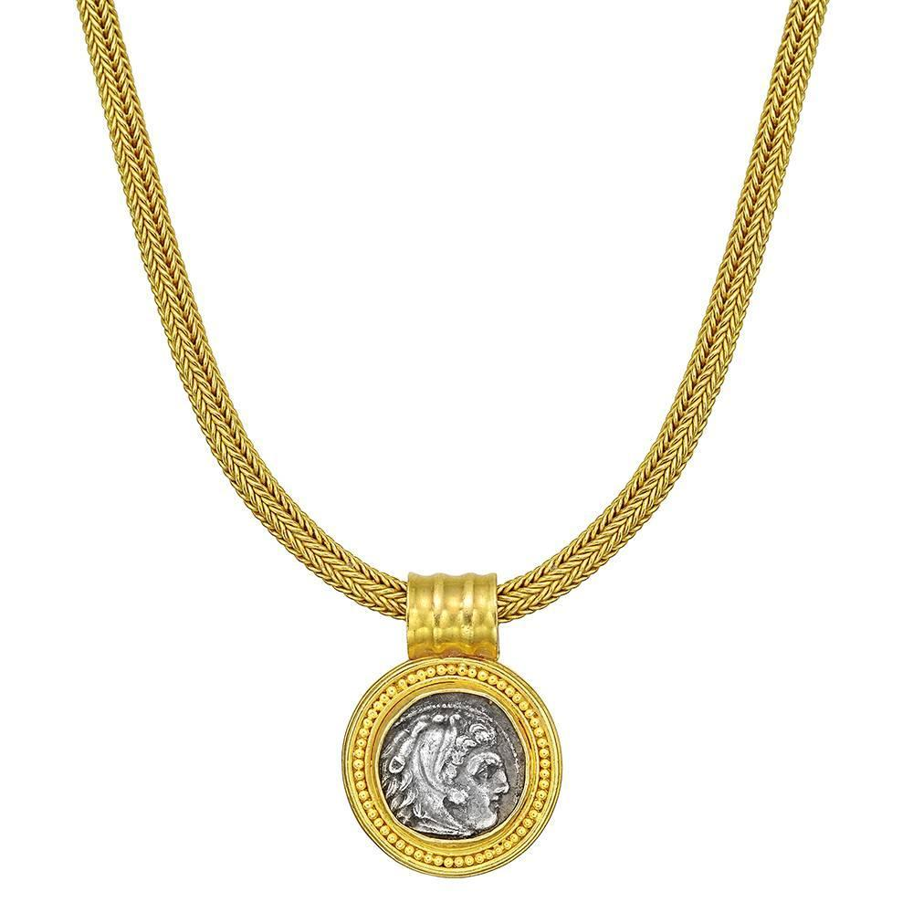Ancient Greek Coin Pendant Necklace at 1stdibs