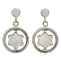 Mont Blanc Star Signet Mother-of-Pearl Gold Earrings