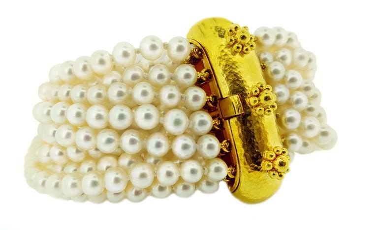 Elizabeth Locke Multi-Strand Pearl Bracelet For Sale 1