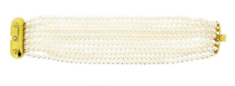 Women's Elizabeth Locke Multi-Strand Pearl Bracelet For Sale