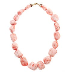 Organic Natural Coral Necklace