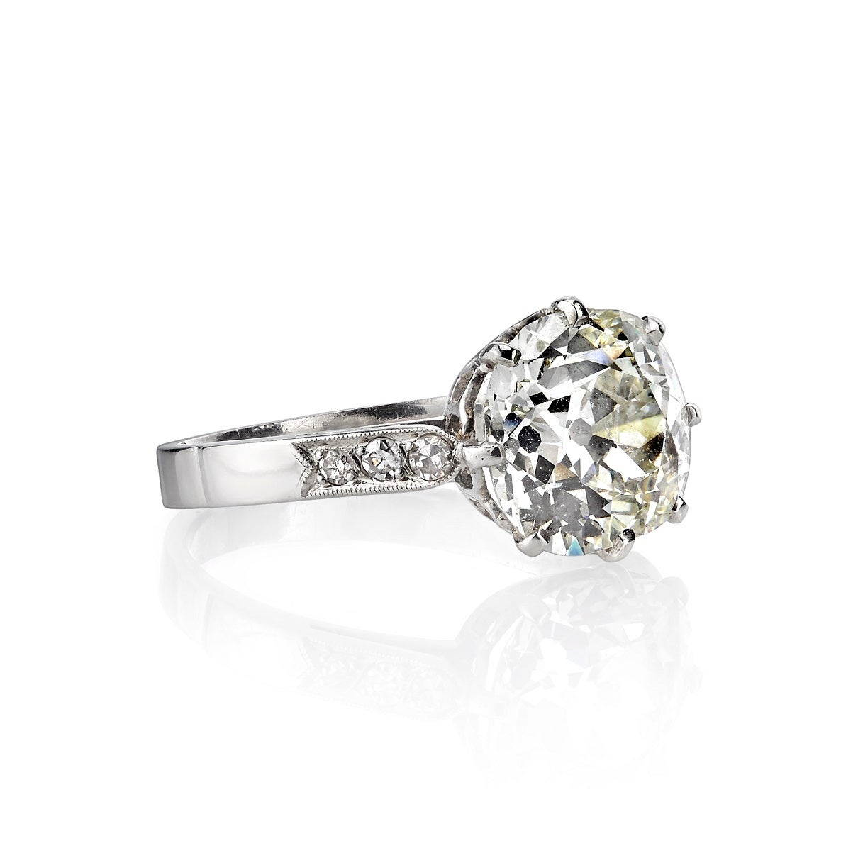 356 carat cushion cut diamond solitaire platinum