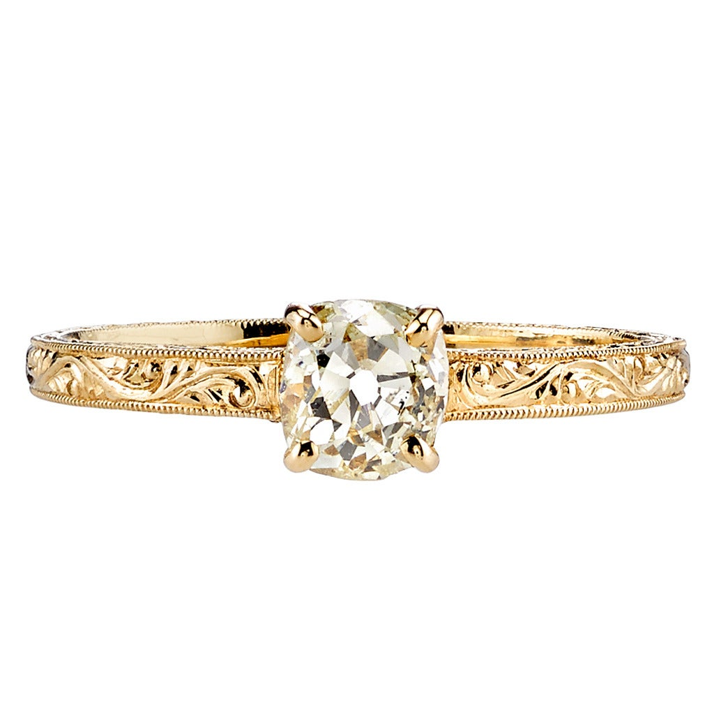 edwardian style cushion cut engagement ring at 1stdibs