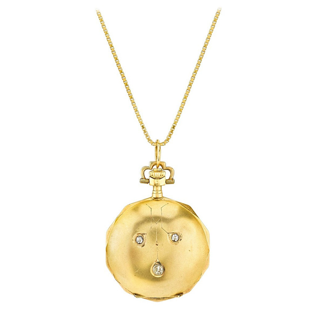 Victorian Yellow Gold and Diamond Lever Set Pocket Watch