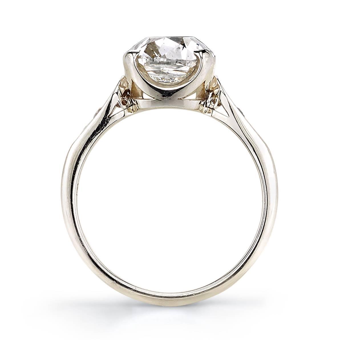 3 72 Carat Cushion Cut Diamond Gold Ring at 1stdibs