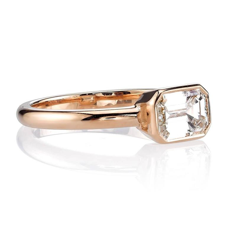 1 26 carat emerald cut gold engagement ring at 1stdibs