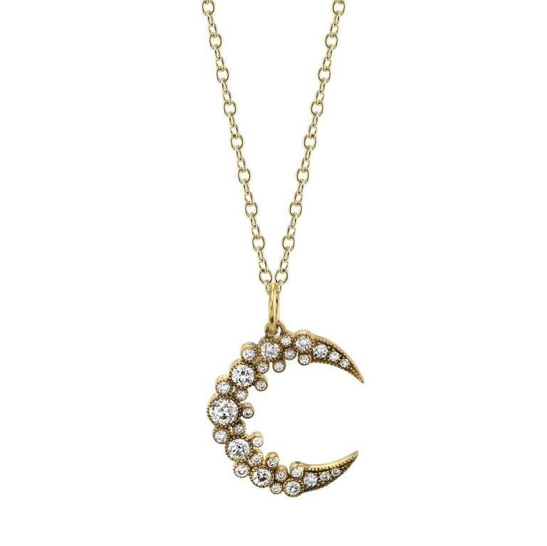 Vintage inspired diamond moon pendant for sale at 1stdibs vintage inspired diamond moon pendant for sale aloadofball Image collections