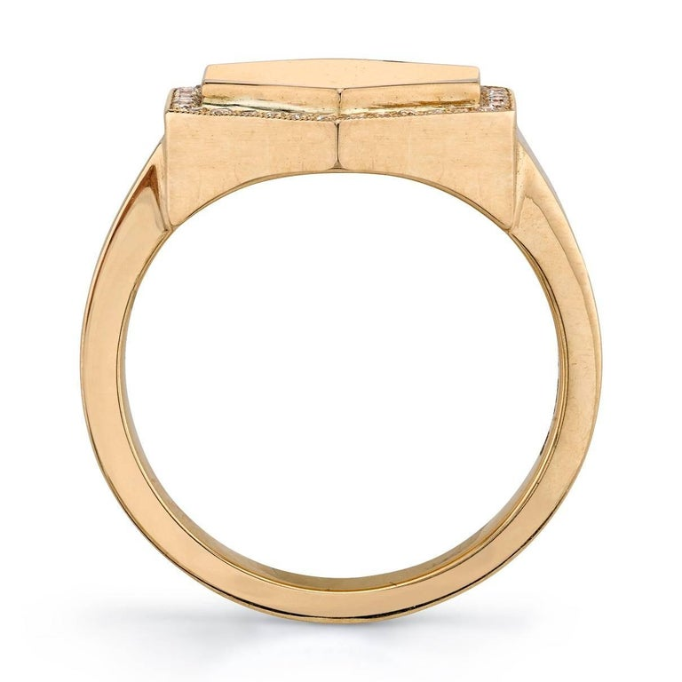 Hexagon Signet Ring In New Condition For Sale In Los Angeles, CA