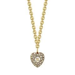 Incredible Vintage Diamond Heart Pendant